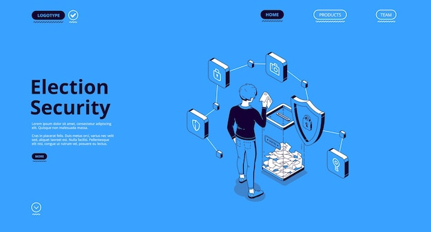 Election security isometric landing page