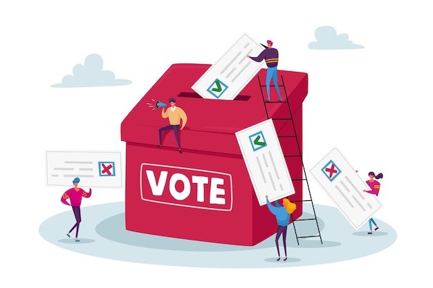 Election and social poll concept