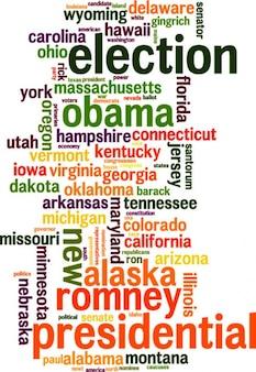 Election words cloud