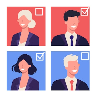 Elections in usa concept. primaries and caucuses. idea of politics and american government. people vote for the candidate. democracy and government.