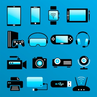 Electorinc devices. flat icons of digital devices and computers