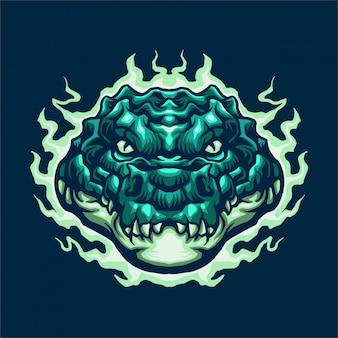 Иллюстрация талисмана электрического аллигатора