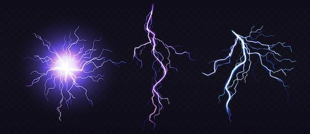 Электрический шар и удар молнии, место удара