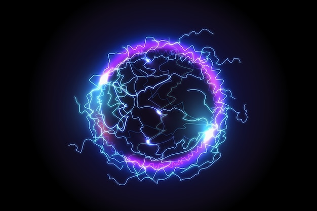 Electric ball with light effect