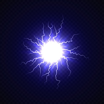 Electric ball with lightning effect