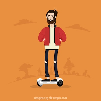 Electric bike concept with hipster