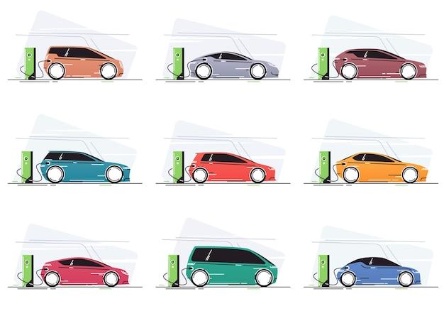차량 충전소에서 전기 자동차