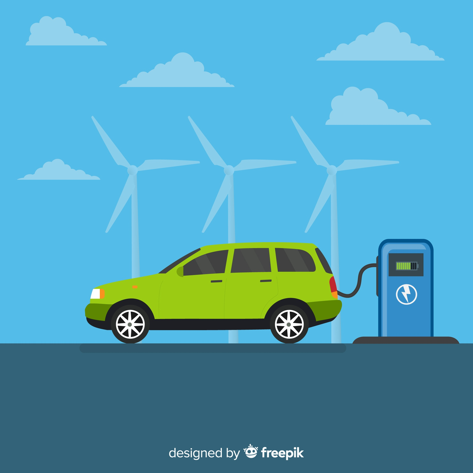 Electric car background