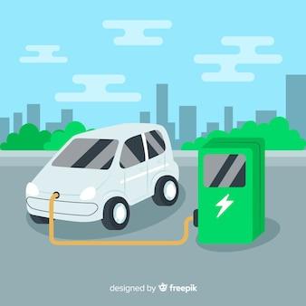 Электрический автомобиль фона