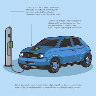 Electric car charging for the trip