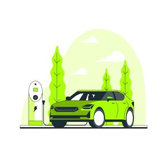 Иллюстрация концепции электрического автомобиля