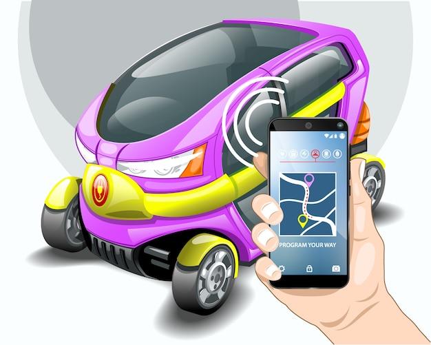 Электрическая автомобильная телефонная навигационная система.