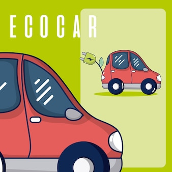 Electric car with wire plug