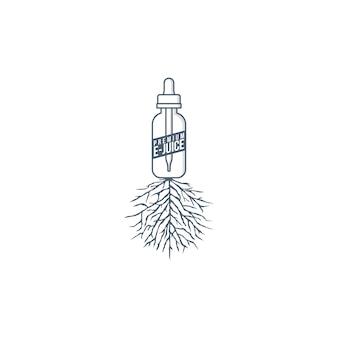 Electric cigarette vapor root theme vector art