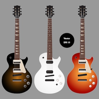 Electric classic guitar set