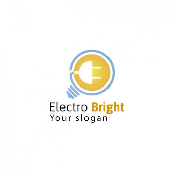Electric company logo template