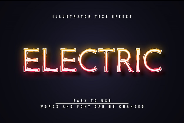 Electric -  editable text effect