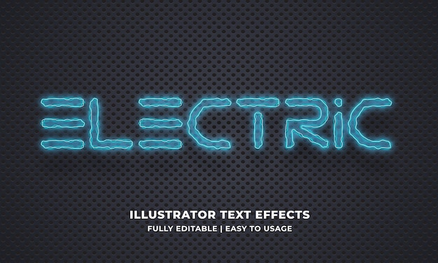 Electric editable text effect