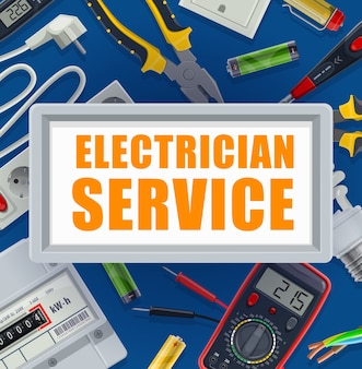 Electric energy supply industry equipment, electrician tools