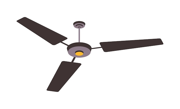 Electric fan isolated on background. household devices for air cooling and conditioning, climate control  illustration