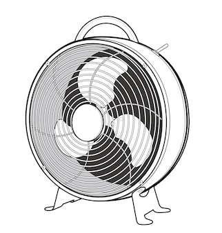 Electric fan vector design illustration template
