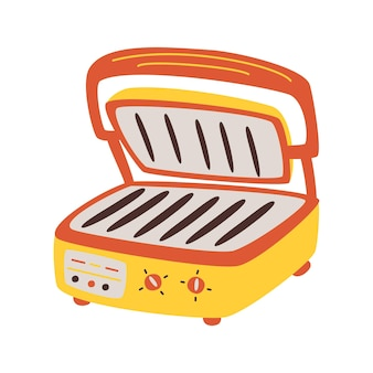 Electric grill home appliance. simple element from kitchen appliances collection. creative electric grill icon for web design, templates, infographics. appliances symbol vector cartoon style.