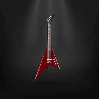 Electric guitar on the dark