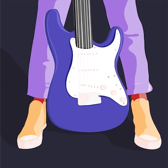 Electric guitar music concept