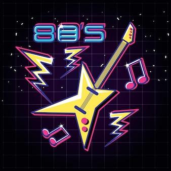Electric guitar pop art style