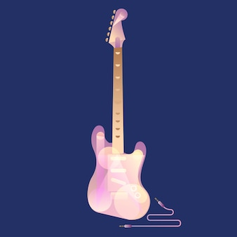 Electric guitar with modern art deco and minimalist style