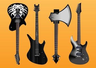 Electric Guitars Vector Freebies