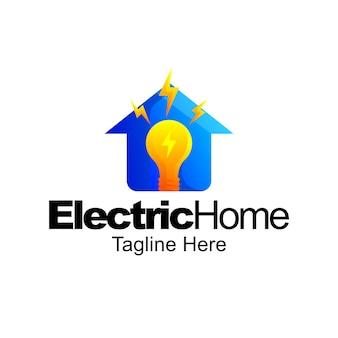 전기 홈 로고 그라데이션 템플릿 디자인