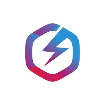 Electric icon logo design template