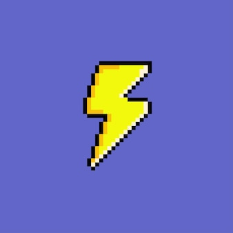 Electric icon with pixel art style