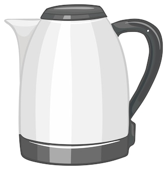 Electric kettle with handle isolated on white background