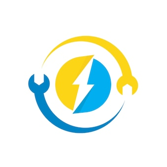 Electric logo with wrench symbol
