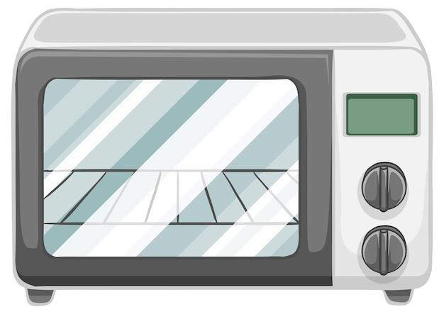 白い背景で隔離の電気オーブン 無料ベクター