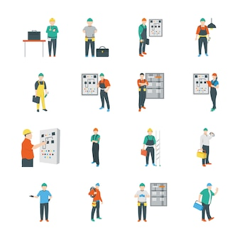 Electric people icons