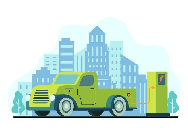 전기 픽업 트럭 충전소