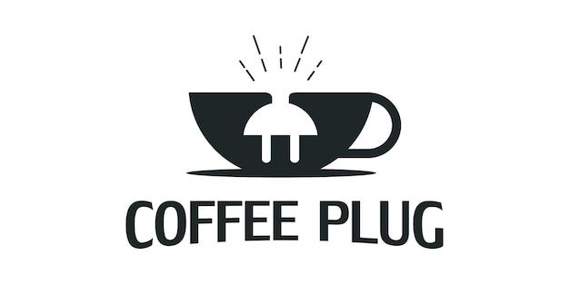 전기 플러그 컵 디자인 로고