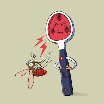 電気ラケット蚊