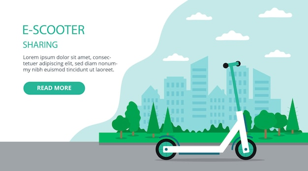 Electric scooter sharing landing page