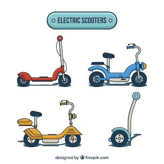 Электрические скутеры с ручным рисунком