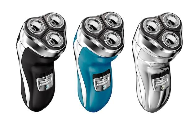 Electric shaver set illustration