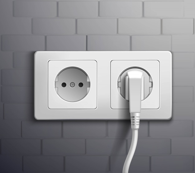 Electric socket cabel plugged