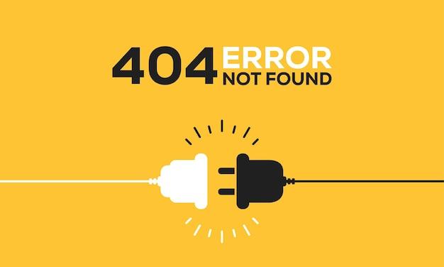 플러그가 있는 전기 소켓. 연결 및 연결 해제 개념입니다. 404 오류 연결의 개념입니다. 전기 플러그와 콘센트 소켓이 뽑혀 있습니다. 전선, 에너지 차단 케이블