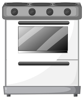 Electric stove with oven isolated on white background
