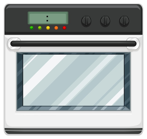 Fornello elettrico con forno isolato su sfondo bianco
