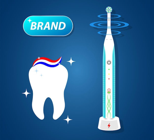 Electric toothbrus with vibrant brush removable nozzles for hygiene product