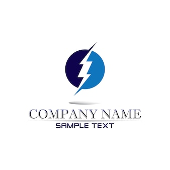 Electric vector lightning icon logo